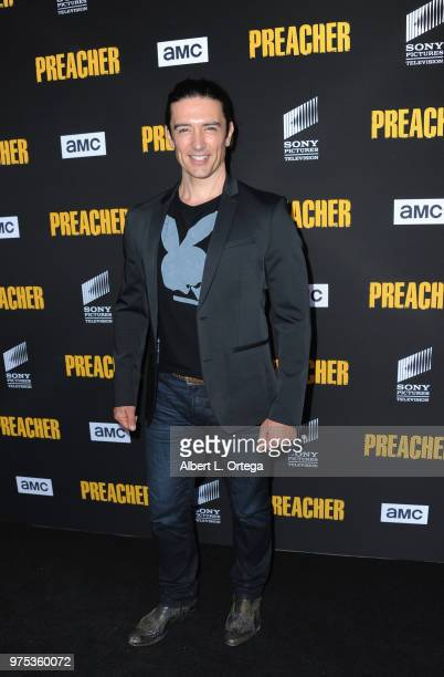 Actor Adam Croasdell arrives for the Premiere Of AMC's 'Preacher' Season 3 held at The Hearth and Hound on June 14 2018 in Los Angeles California