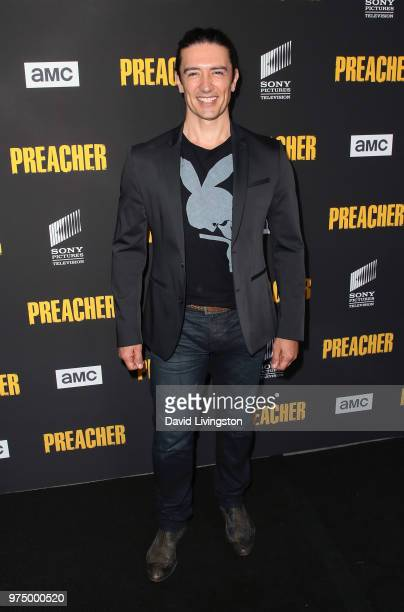Actor Adam Croasdell attends the premiere of AMC's 'Preacher' Season 3 at The Hearth and Hound on June 14 2018 in Los Angeles California