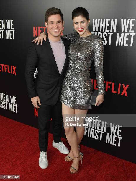 Actor Adam DeVine and Alexandra Daddario attend Special Screening Of Netflix Original Film' 'When We First Met' at ArcLight Theaters at ArcLight...