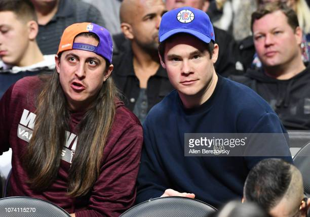 Actor Adam DeVine attends a basketball game between the Los Angeles Clippers and the Phoenix Suns at Staples Center on November 28 2018 in Los...
