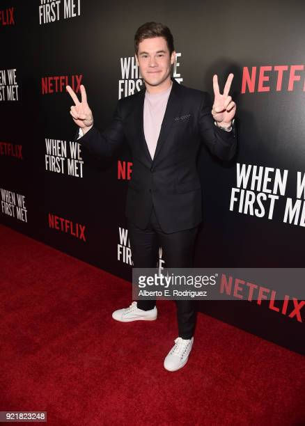 Actor Adam Devine attends a special screening of Netflix's 'When We First Met' at ArcLight Hollywood on February 20 2018 in Hollywood California