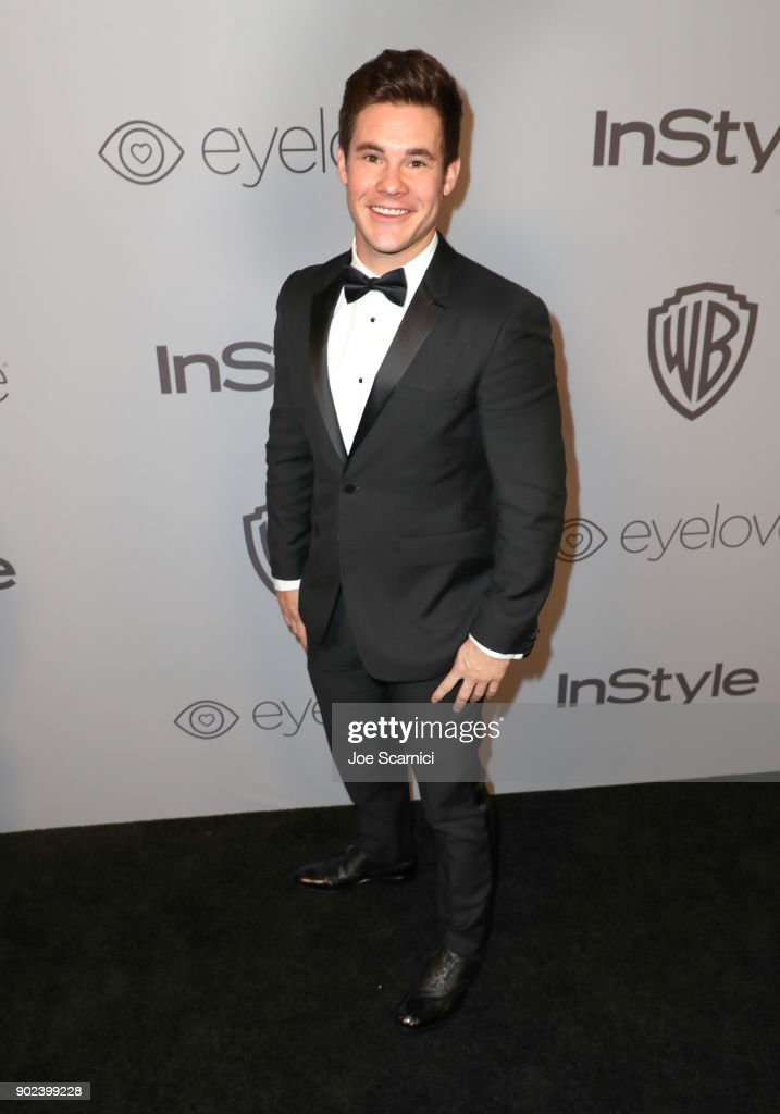 Actor Adam DeVine attends the 2018 InStyle and Warner Bros. 75th Annual Golden Globe Awards Post-Party at The Beverly Hilton Hotel on January 7, 2018 in Beverly Hills, California.
