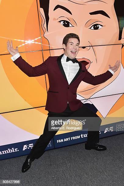 Actor Adam Devine attends the 21st Annual Critics' Choice Awards at Barker Hangar on January 17 2016 in Santa Monica California