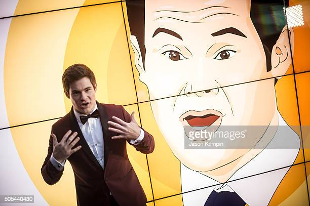 Actor Adam DeVine attends the 21st Annual Critics' Choice Awards at Barker Hangar on January 17 2016 in Santa Monica California