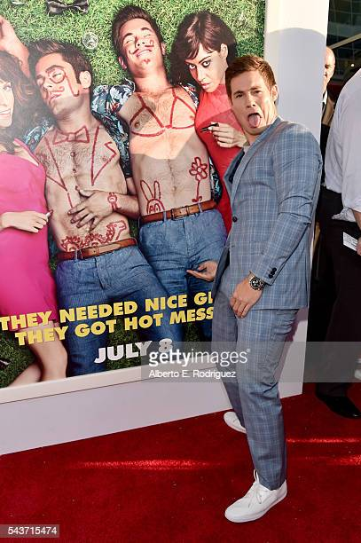 Actor Adam Devine attends the premiere of 20th Century Fox's Mike and Dave Need Wedding Dates at ArcLight Cinemas Cinerama Dome on June 29 2016 in...