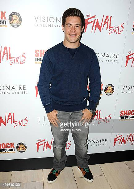 Actor Adam DeVine attends the premiere of 'The Final Girls' at The London Hotel on October 6 2015 in West Hollywood California