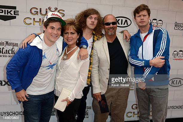 Actor Adam DeVine Penne DeVine Blake Anderson Dennis DeVine and Anders Holm arrive at Spike TV's 6th Annual Guys Choice Awards at Sony Pictures...