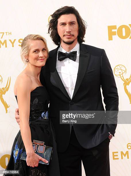 Actor Adam Driver and his wife Joanne Tucker arrive at the 67th Annual Primetime Emmy Awards at the Microsoft Theater on September 20 2015 in Los...