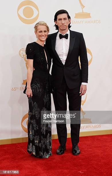 Actor Adam Driver and Joanne Tucker arrive at the 65th Annual Primetime Emmy Awards held at Nokia Theatre LA Live on September 22 2013 in Los Angeles...