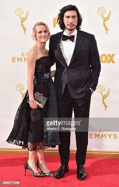 Actor Adam Driver and Joanne Tucker attend the 67th Emmy Awards at Microsoft Theater on September 20 2015 in Los Angeles California 25720_001