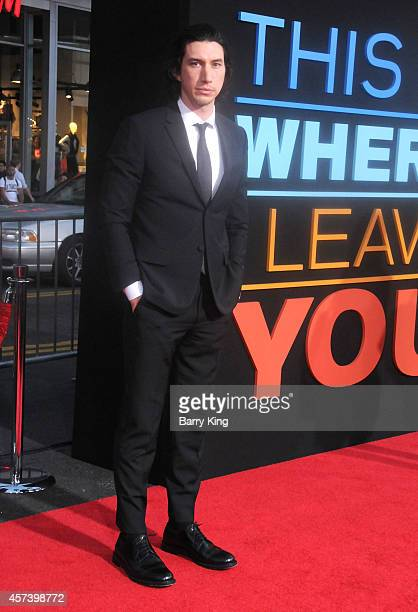 Actor Adam Driver arrives at the Los Angeles Premiere 'This Is Where I Leave You' at TCL Chinese Theatre on September 15 2014 in Hollywood California