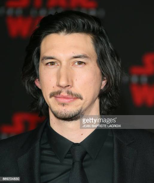 Actor Adam Driver arrives for the premiere of Disney Pictures and Lucasfilm's 'Star Wars The Last Jedi' at The Shrine Auditorium in Los Angeles on...