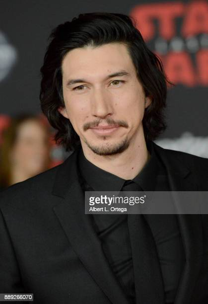 Actor Adam Driver arrives for the Premiere Of Disney Pictures And Lucasfilm's Star Wars The Last Jedi held at The Shrine Auditorium on December 9...