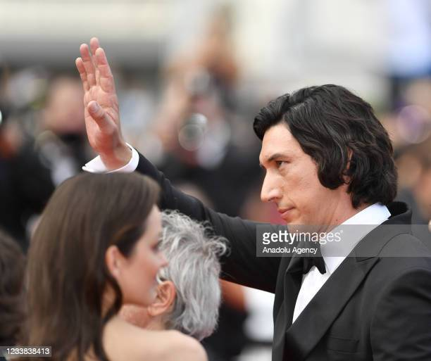 Actor Adam Driver arrives for the screening of the film âAnnette' in competition and the Opening Ceremony of the 74th annual Cannes Film Festival in...