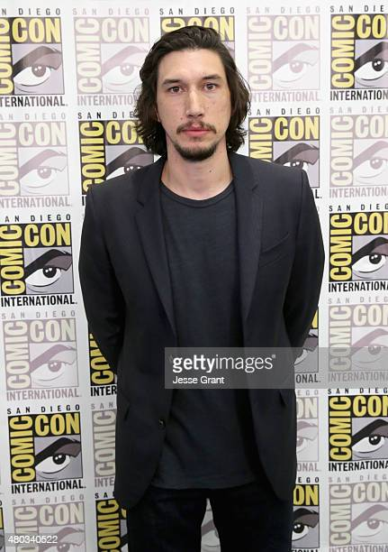 """Actor Adam Driver at the Hall H Panel for """"Star Wars The Force Awakens"""" during ComicCon International 2015 at the San Diego Convention Center on July..."""