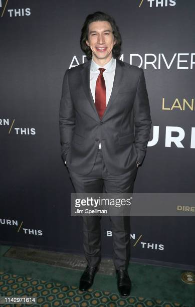 Actor Adam Driver attends the Burn This opening night at Hudson Theatre on April 15 2019 in New York City