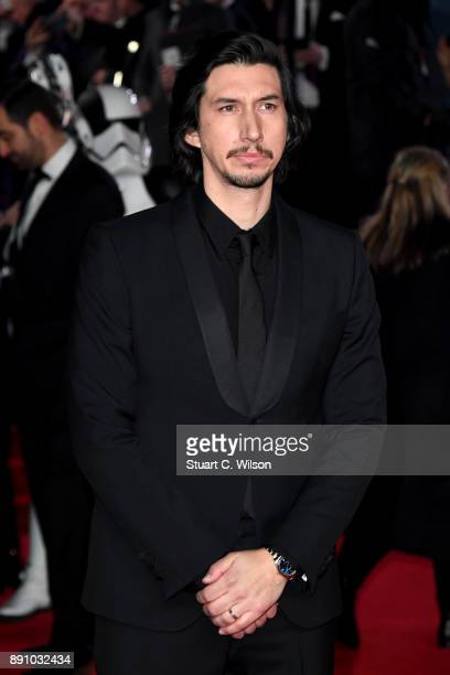 Actor Adam Driver attends the European Premiere of 'Star Wars The Last Jedi' at Royal Albert Hall on December 12 2017 in London England