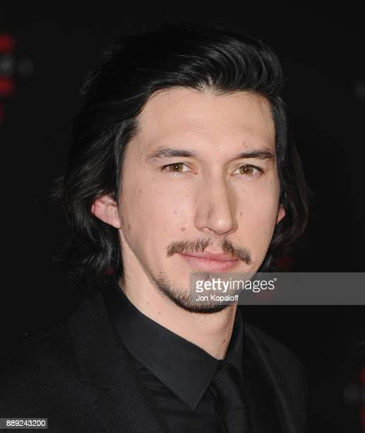 Actor Adam Driver attends the Los Angeles Premiere 'Star Wars The Last Jedi' at The Shrine Auditorium on December 9 2017 in Los Angeles California