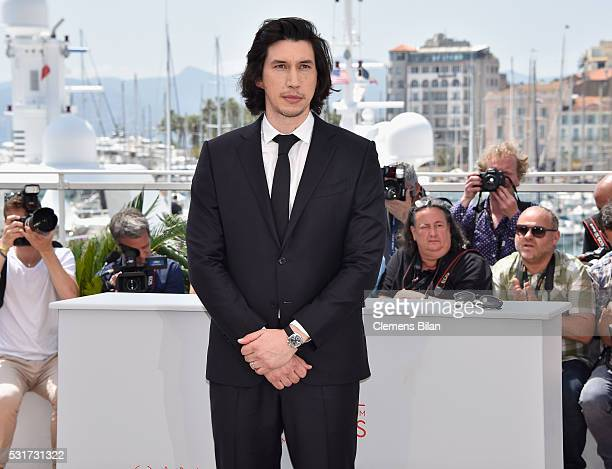 Actor Adam Driver attends the 'Paterson' photocall during the 69th annual Cannes Film Festival at the Palais des Festivals on May 16 2016 in Cannes...