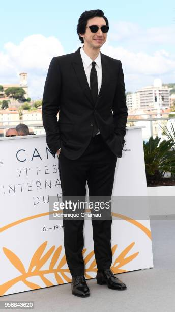 Actor Adam Driver attends the photocall for 'Blackkklansman' during the 71st annual Cannes Film Festival at Palais des Festivals on May 15 2018 in...
