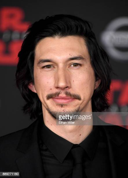 Actor Adam Driver attends the premiere of Disney Pictures and Lucasfilm's 'Star Wars The Last Jedi' at The Shrine Auditorium on December 9 2017 in...