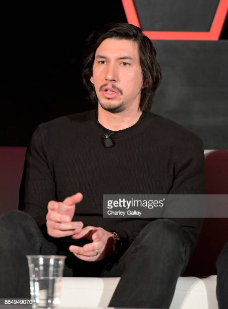 Actor Adam Driver attends the press conference for the highly anticipated Star Wars The Last Jedi at InterContinental Los Angeles on December 3 2017...