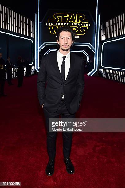 "Actor Adam Driver attends the World Premiere of ""Star Wars The Force Awakens"" at the Dolby El Capitan and TCL Theatres on December 14 2015 in..."