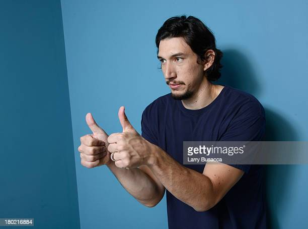 Actor Adam Driver of 'Tracks' poses at the Guess Portrait Studio during 2013 Toronto International Film Festival on September 10 2013 in Toronto...