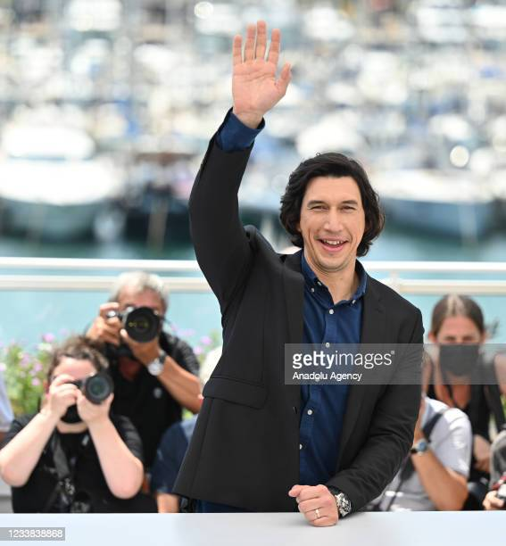 Actor Adam Driver poses during the photocall for tâhe film Annette' in competition at the 74th annual Cannes Film Festival, France on July 06. 2021
