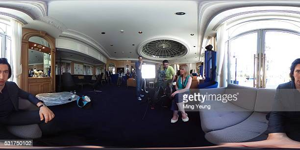 Actor Adam Driver poses for a 360 portrait during the 'Paterson' interview with Getty Images Entertainment Video during the 69th Cannes Film Festival...