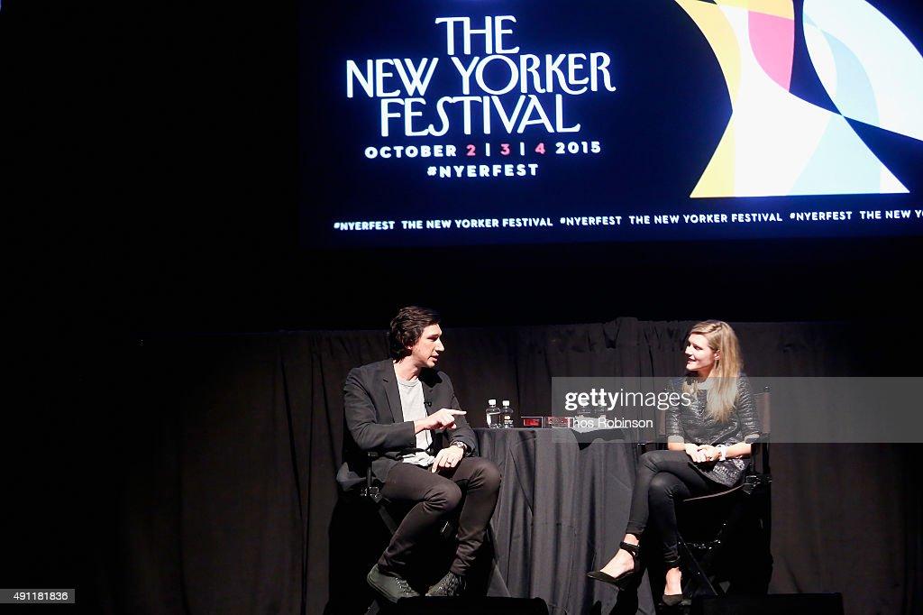 The New Yorker Festival 2015 - Adam Driver Talks With Lizzie Widdicombe : News Photo