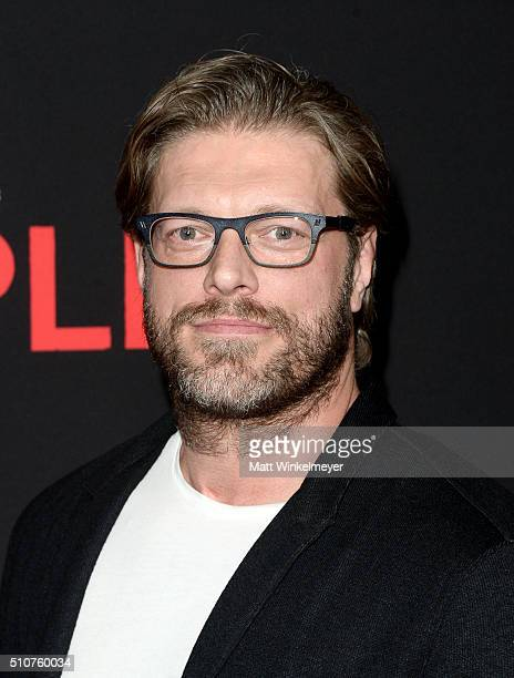 Actor Adam 'Edge' Copeland attends the premiere of Open Road's 'Triple 9' at Regal Cinemas LA Live on February 16 2016 in Los Angeles California