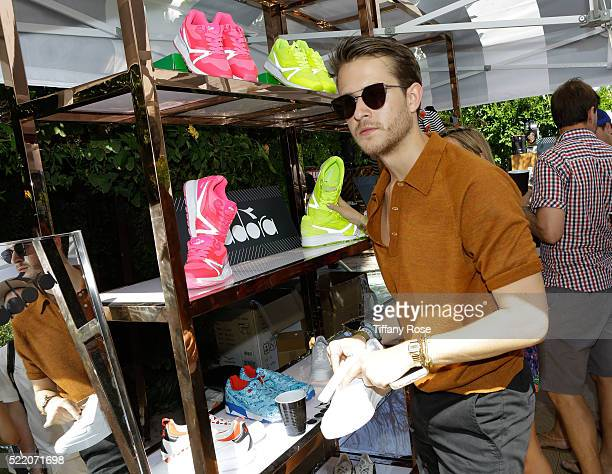 Actor Adam Gallagher attends the Vegas and #WHHSH presents The Music Lounge with gifting by Diadora on April 17 2016 in Palm Springs California