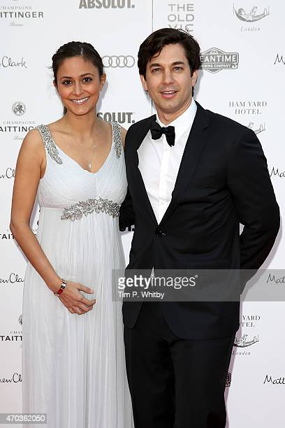 Actor Adam Garcia and Nathalia Chubin arrive at The Old Vic Theatre for a gala celebration in honour of Kevin Spacey as the artistic director's...