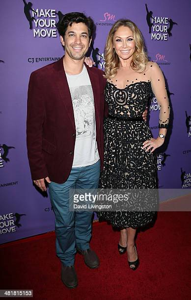 Actor Adam Garcia and TV personality/dancer Kym Johnson attend a screening of 'Make Your Move' at Pacific Theatre at The Grove on March 31 2014 in...