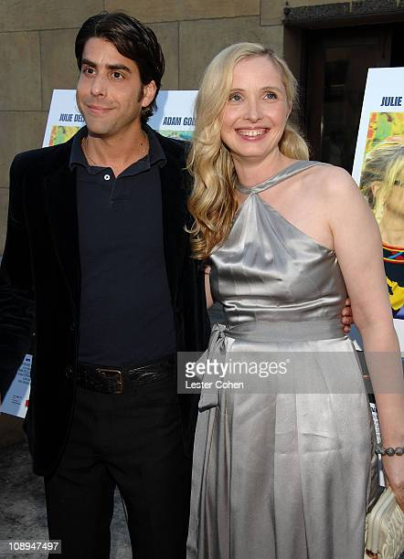 Actor Adam Goldberg and director/writer/actress Julie Delpy arrive to the 2 Days in Paris Los Angeles premiere at the Egyptian Theater on August 6...