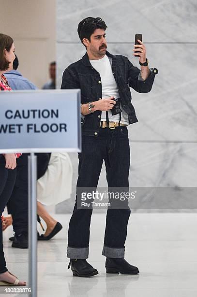 Actor Adam Goldberg leaves the Sirius XM Studios on July 15 2015 in New York City