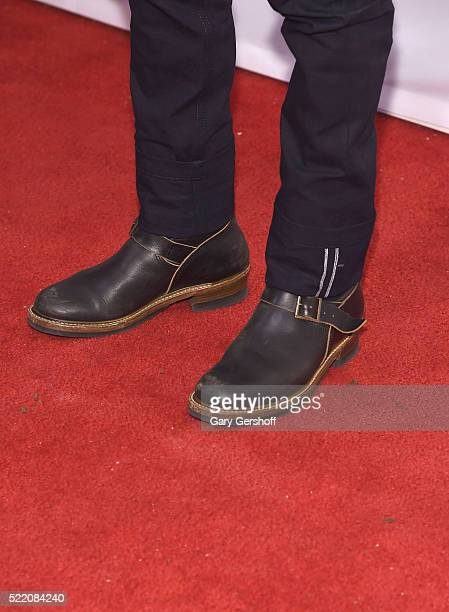 Actor Adam Goldberg shoe detail attends the 'Rebirth' Premiere during 2016 Tribeca Film Festival at SVA Theatre on April 17 2016 in New York City