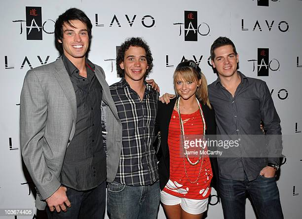 Actor Adam Gregory actor Patrick Sebes actress Johanna Braddy and TV personality Jason Kennedy attend the TAO and LAVO anniversary weekend held at...