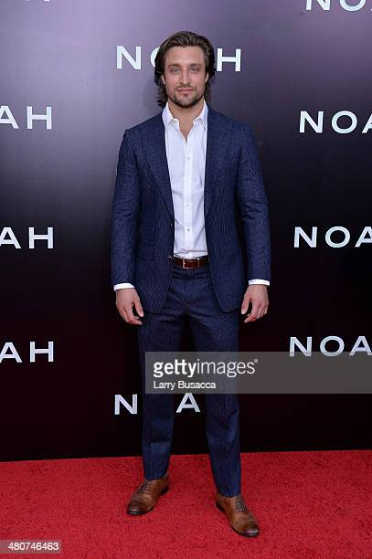 Actor Adam Griffith attends the New York premiere of Paramount Pictures' 'Noah' at the Ziegfeld Theatre on March 26 2014 in New York City