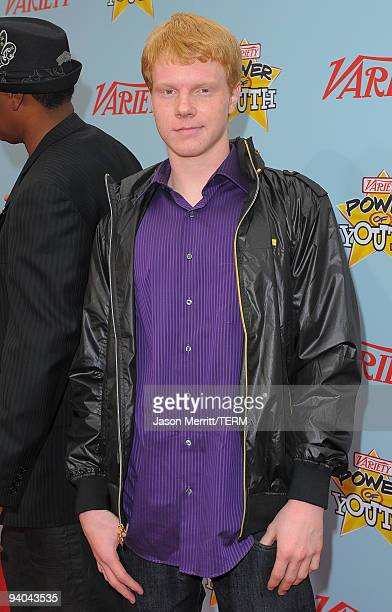 Actor Adam Hicks arrives at Variety's 3rd annual 'Power of Youth' event held at Paramount Studios on December 5 2009 in Los Angeles California