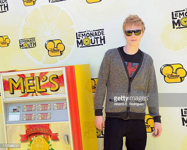 Actor Adam Hicks arrives to the premiere of Disney Channel's 'Lemonade Mouth' at Stevenson Middle School on April 12 2011 in Los Angeles California