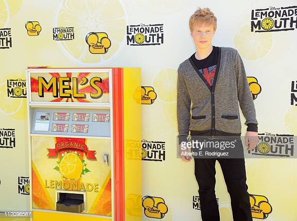 """Actor Adam Hicks arrives to the premiere of Disney Channel's """"Lemonade Mouth"""" at Stevenson Middle School on April 12, 2011 in Los Angeles, California."""