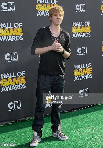 Actor Adam Hicks attends the 2nd annual Cartoon Network Hall Of Game Awards at The Barker Hanger on February 18 2012 in Santa Monica California