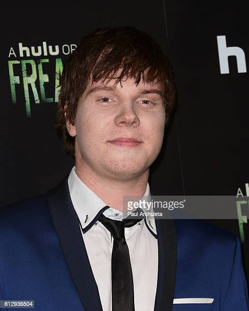 Actor Adam Hicks attends the premiere of Hulu's 'Freakish' at Smogshoppe on October 5 2016 in Los Angeles California