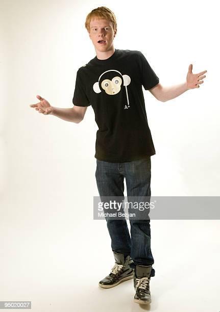 Actor Adam Hicks poses at Adam Hicks T-Shirt Launch Photo Shoot on December 22, 2009 in Los Angeles, California.