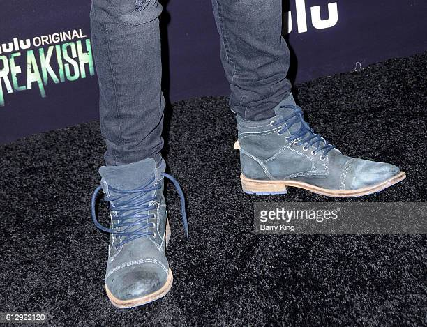 Actor Adam Hicks shoe detail attends the premiere of Hulu's 'Freakish' at Smogshoppe on October 5 2016 in Los Angeles California