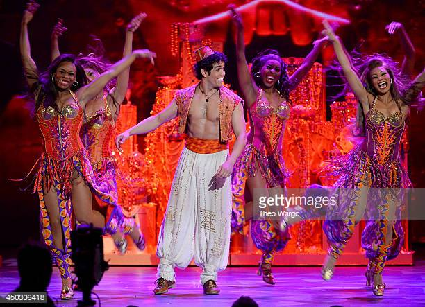Actor Adam Jacobs performs 'Aladdin' onstage during the 68th Annual Tony Awards at Radio City Music Hall on June 8 2014 in New York City