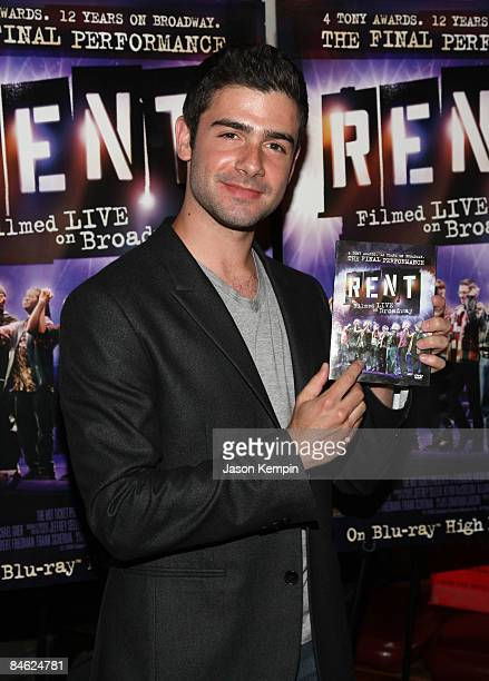Actor Adam Kantor attends the 'RENT Filmed Live on Broadway' DVD release party at the Life Cafeon February 2 2009 in New York City