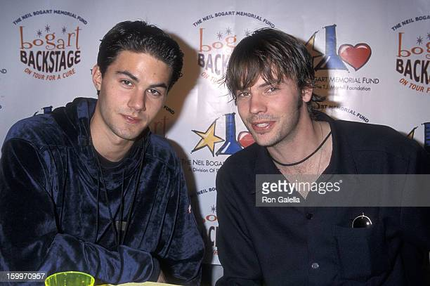 Actor Adam LaVorgna and actor Barry Watson attend the Bogart Backstage 'On Tour for a Cure' to Benefit the Neil Bogart Memorial Fund on November 19...
